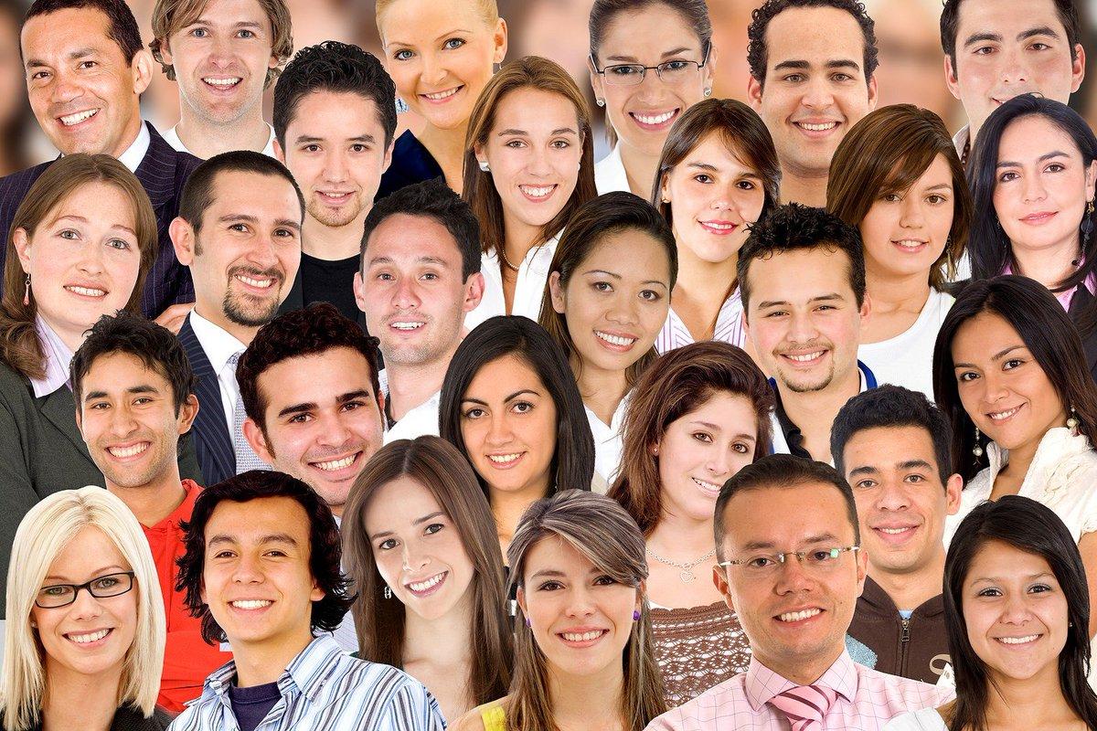 Фото молодых людей разной национальности
