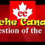 Image for the Tweet beginning: Cache Canada Question of the