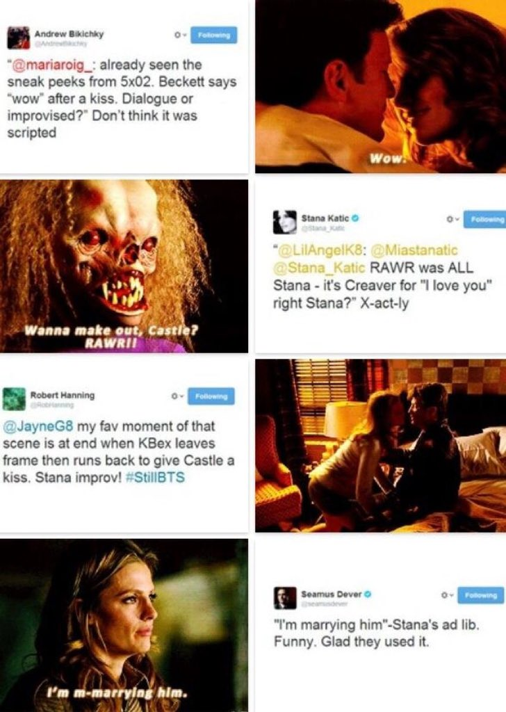 #FBF: Some memorable Stana improvised moments from #Castle.<br>http://pic.twitter.com/drdjiLOMbc