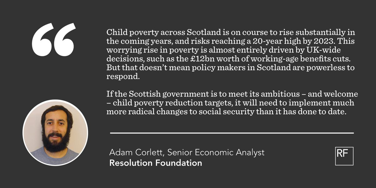 test Twitter Media - 23% of children in Scotland live in relative poverty. That's below the UK average, but it's been drifting upwards since 2011-12 - and a new report from @adamcorlett suggests child poverty is still heading in the wrong direction in Scotland. Read more: https://t.co/xEIjnJG6cP https://t.co/tKYZGduy1V