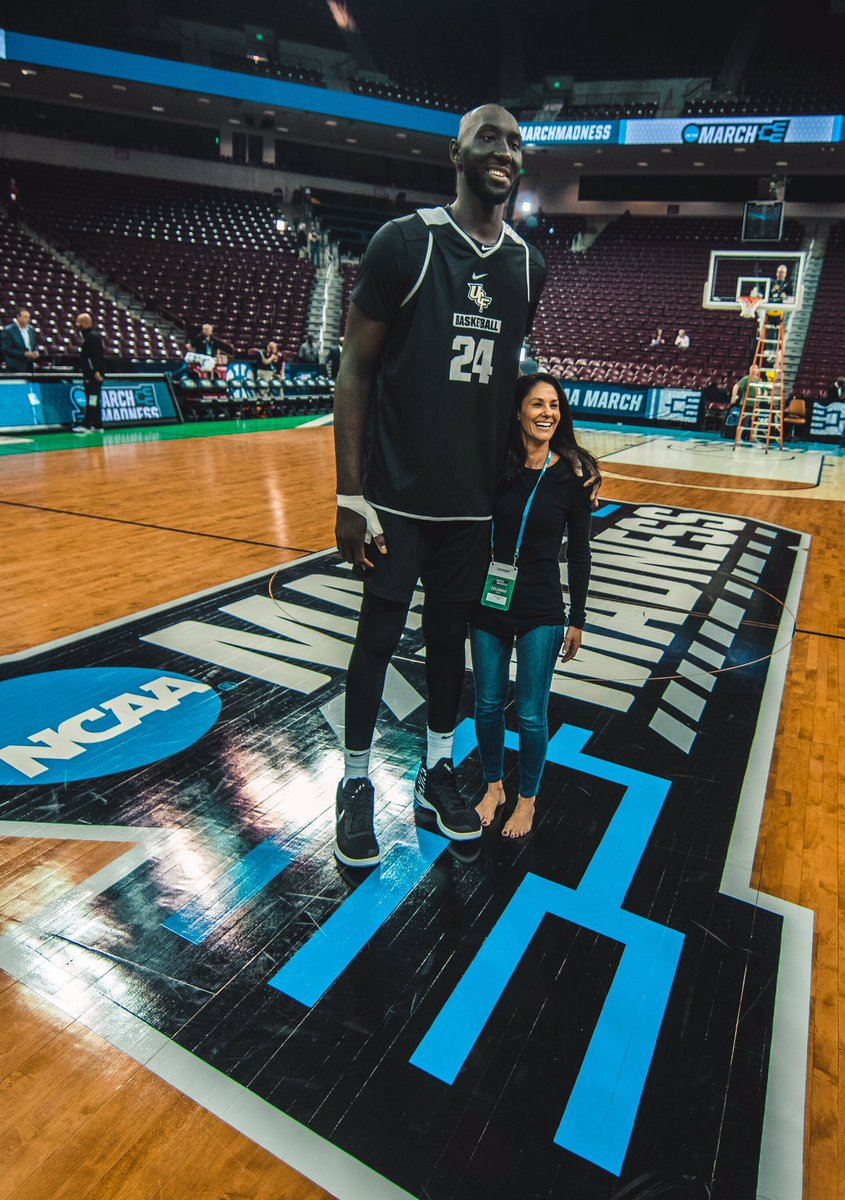"NCAA March Madness on Twitter: ""7'6 - Tacko Fall 5'2 ..."