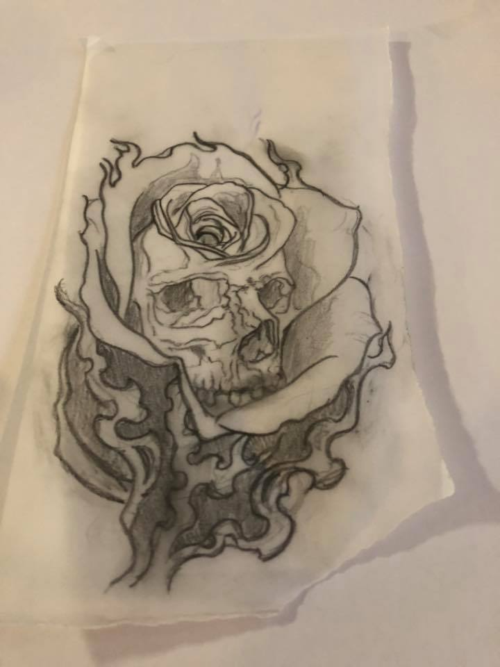 Rose and skull by Emilio waiting to be tattooed  #tattoo #tattooliverpool #tattoostudioliverpool #pictontattoo #pictontattooliverpool #drawing #tattoodrawing #pencildrawing #rose #rosedrawing #rosetattoo #skull #skulldrawing #skulltattoo #blackandgrey #blackandgreydrawingpic.twitter.com/hIIblFA4N5