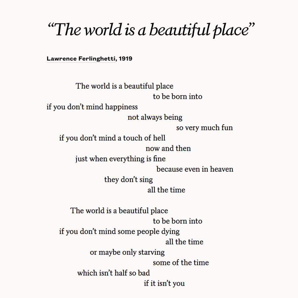Lawrence Ferlinghetti Poems 7