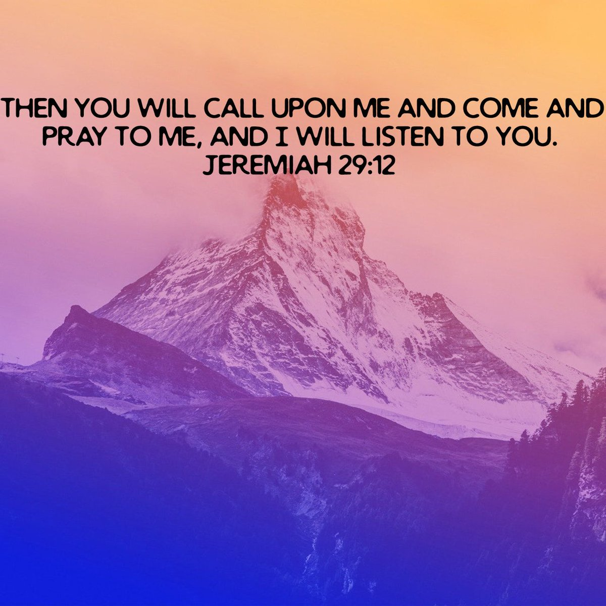 Then you will call upon Me and come and pray to Me, and I will listen to you. Jeremiah 29:12 NA… #Jesus #WorldPoetryDay #FridayMotivation #FridayFeeling #FridayWisdom <br>http://pic.twitter.com/R4jAB1f96e