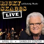 Image for the Tweet beginning: Don't miss Ricky Skaggs &