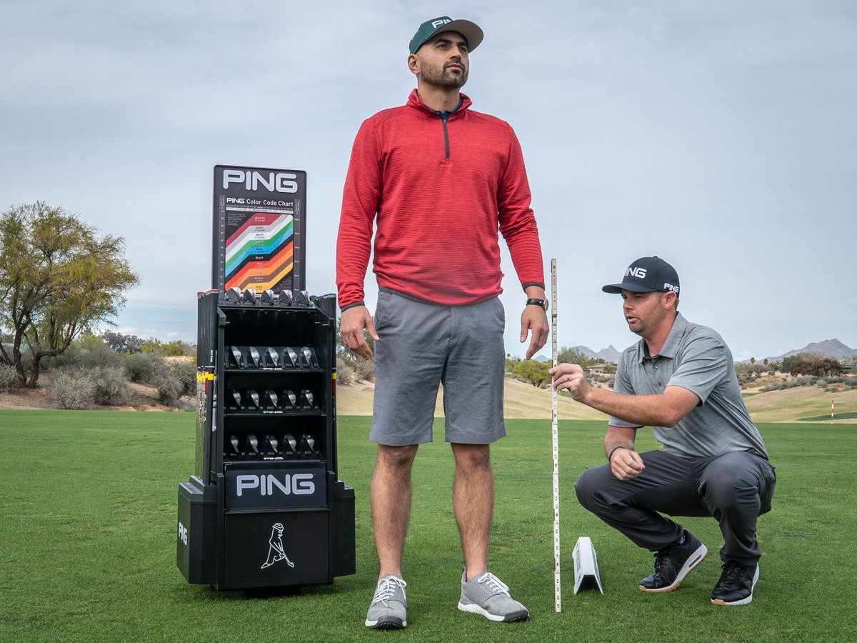 """PING GOLF on Twitter: """"Do you know your color code? To start, plot your height and wrist-to-floor measurement on our chart to get your static lie angle. Lie angle affects your shot"""