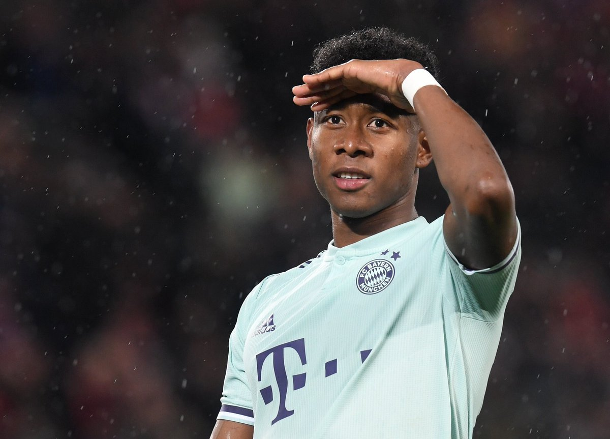 "David Alaba (Bayern Munich) on his future: ""I'm happy in Munich but of course I can imagine seeing something else - [in] Spain, England. Yes, I was [an Arsenal fan growing up]. When you've been an Arsenal fan as a kid, you will be one your whole life in some way."" [BILD] #afc <br>http://pic.twitter.com/bJMJiSlswB"