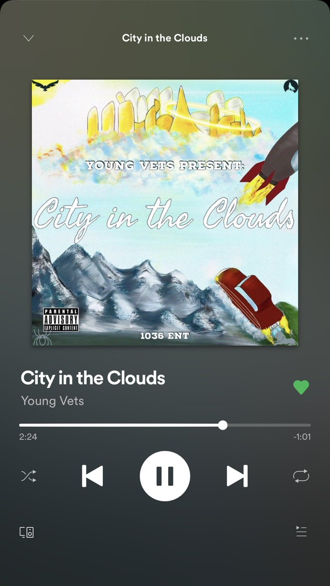 #NewMusicFriday stream our latest project, City In The Clouds, out now on all platforms #vetsswork @YoungVeterans_<br>http://pic.twitter.com/s9wZt9p1dj
