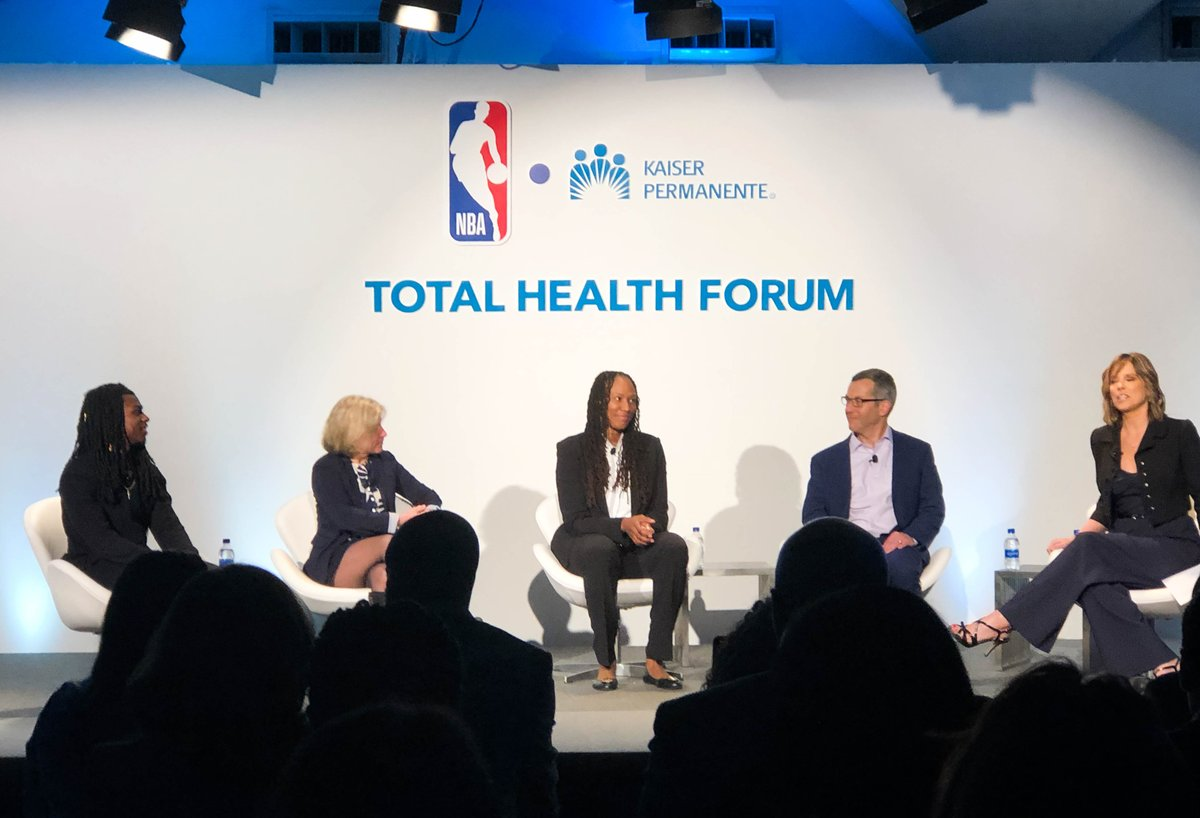 Thank you @nba and @KPShare for having us yesterday to talk about how we all can work together to promote #mentalhealth and resilience. @Chold1 @HannahStormESPN  #TotalHealthForum #MentalHealthMatters #NBAFIT