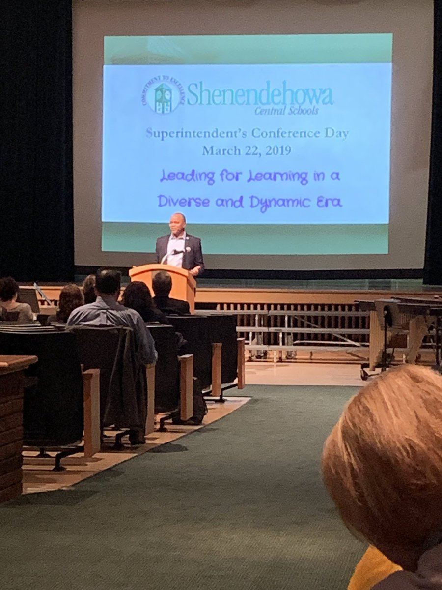 As always, a great message by @OliverRobinso13 to kick off superintendent's conference day.