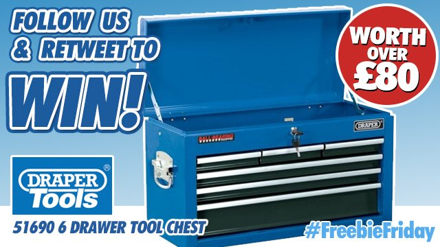 Perfect for keeping your tools organised! FOLLOW US &amp; RT for a chance to #Win this awesome Draper Tool Chest. #FreebieFriday #giveaway T&amp;Cs Apply. #Competition ends Monday 25th March 2019 at 4pm. <br>http://pic.twitter.com/1HNz37HZOf