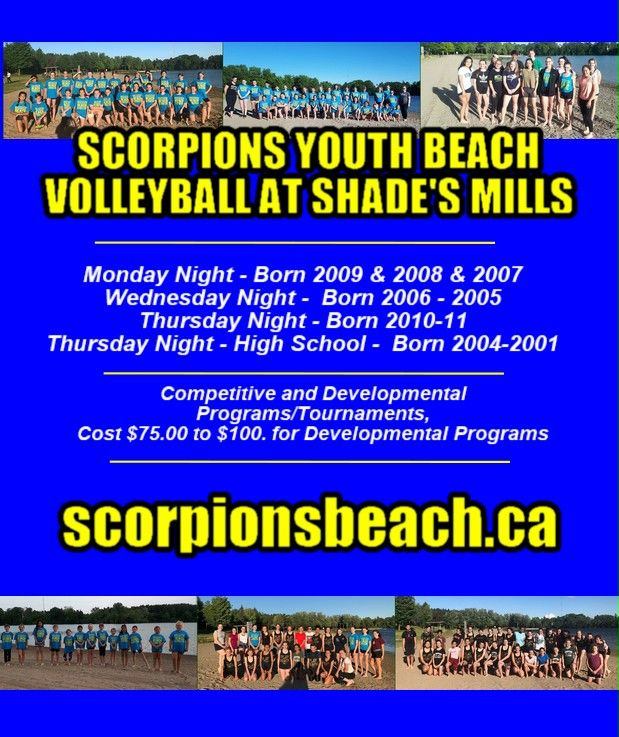 SCORPIONS AT THE MALL THIS SATURDAY! Meet Lauren, Meet Maggie, Learn  about our affordable fantastic YOUTH beach volleyball programs at  Shade's Mills starting in May! @Bill_Doucet @cbridgeONevents @cbridgeca