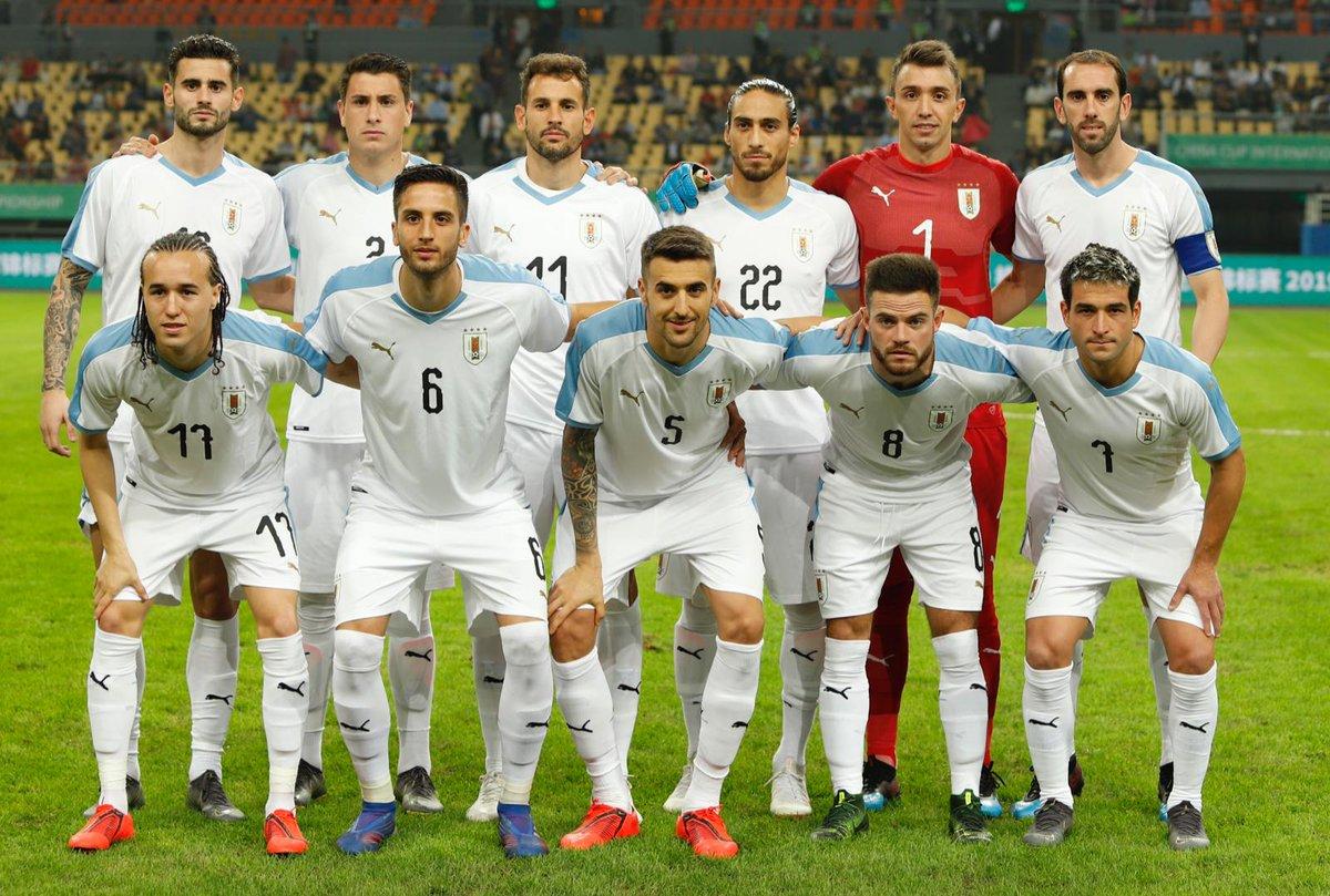 #UZBURU | Final del partido en el Guangxi Sports Center de Nanning. @UzbekistanFA 0-3 @Uruguay  Goles: 5´ Gastón Pereiro, 23´ y 81´ Cristhian Stuani (URU)