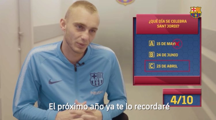 "Cillessen to De Jong:  ""So next year when I'm still here we can talk about it..""  👀"