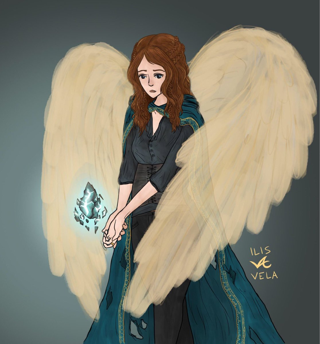 """Aasimar Sorcerer vela on twitter: """"2/21/19 livia, aasimar divine soul"""