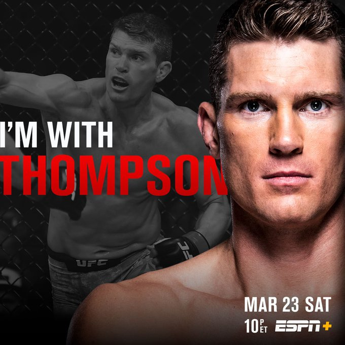 Looking to defend his division!  RT if you're w/ @WonderboyMMA at #UFCNashville | SATURDAY | LIVE on @ESPN+