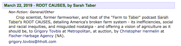 Big news: I&#39;m officially writing a book!  This won&#39;t be the usual farm book, bemoaning agribusiness ad nauseum.  It&#39;s about how colonialism made US farms so dysfunctional (yes, even in the good old days) that agbiz happened in the first place- and what to do about *that.* <br>http://pic.twitter.com/3hgcUmJlgE