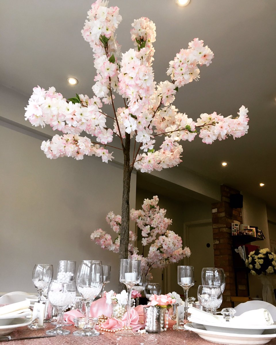 Our new pink blossom trees are in! Love them  #weddingdecor #weddings #weddings2019<br>http://pic.twitter.com/2v1hEZ6Emg