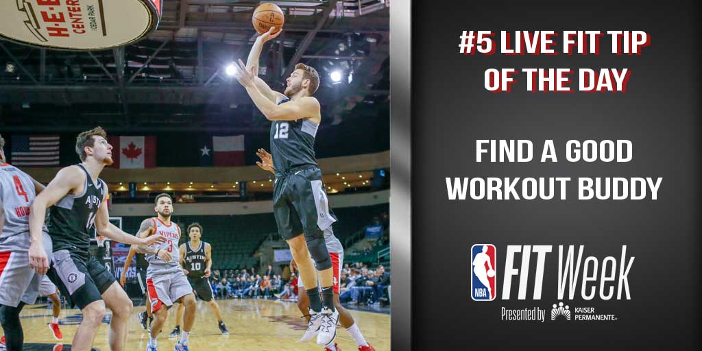 If you have someone to keep you accountable, you're much more likely to stick to your workout plan! #NBAFIT