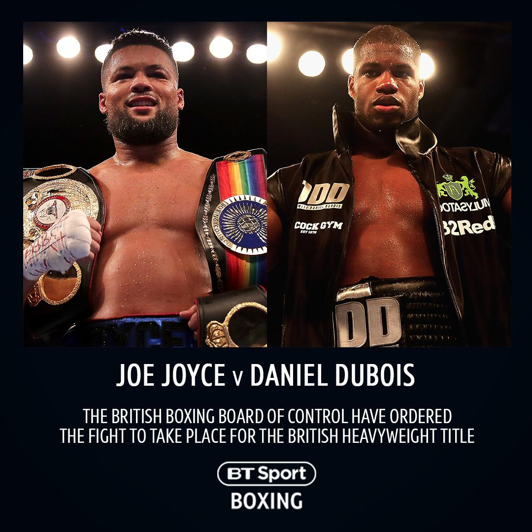 🚨 Fight ordered 🚨  The BBBofC have ordered Joe Joyce v Daniel Dubois for the vacant British heavyweight title 🏆  JJ x DDD...