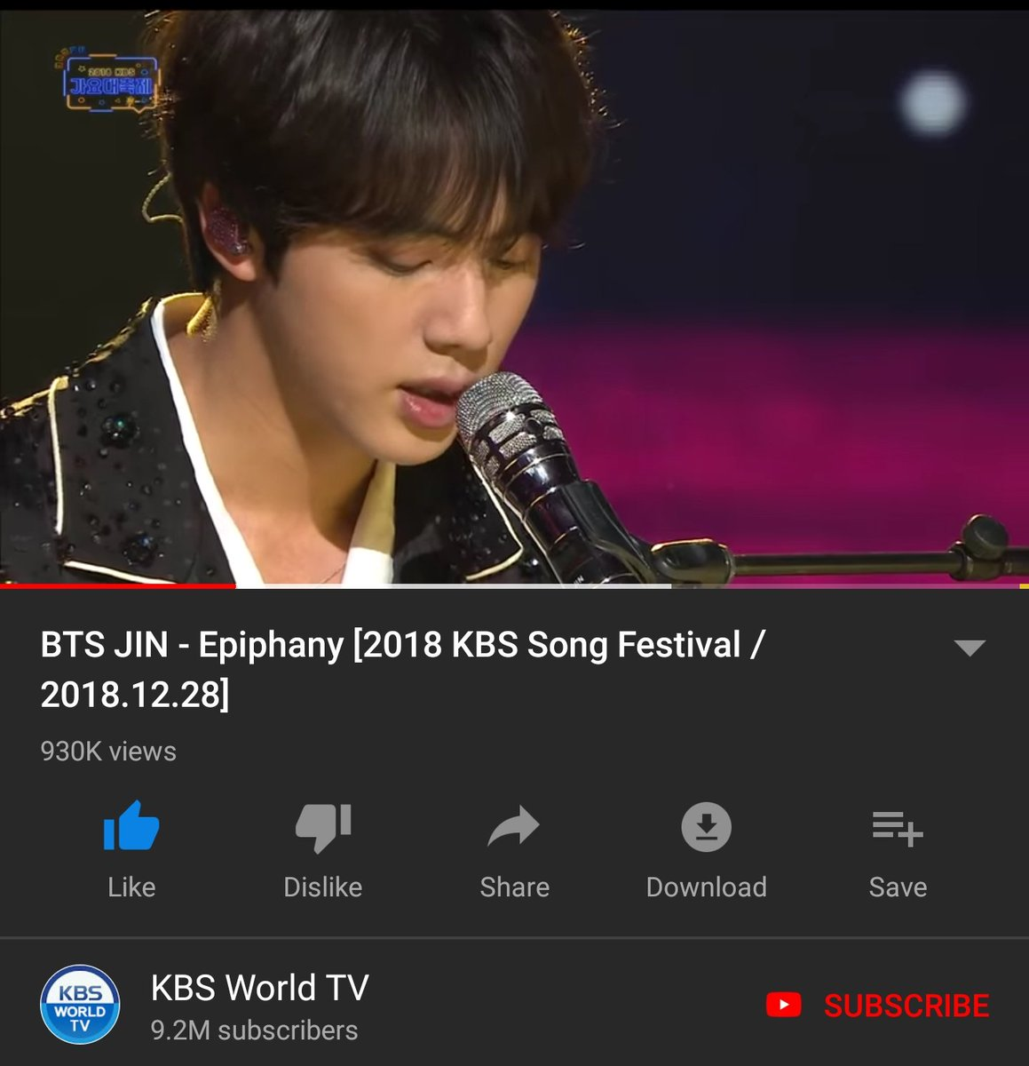 Omg so close to 1M for this best performance with masterpiece song  please 70k more    https:// youtu.be/9H1sp76Ao8w  &nbsp;    #방탄소년단 #방탄진 #진 #석진 #김석진 #BTS #JIN #방탄소년단진 @BTS_twt #Epiphany <br>http://pic.twitter.com/l67AesIliu