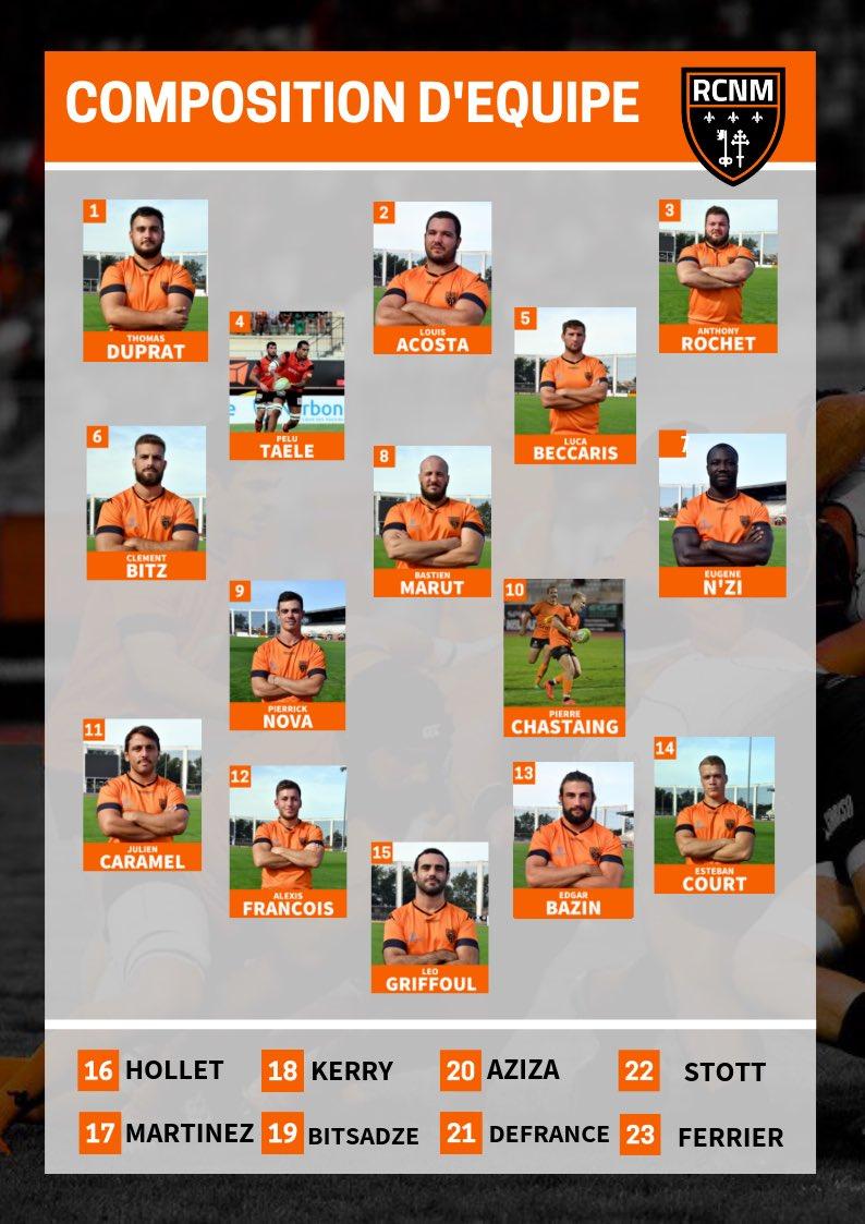 COMPOSITION   👥🆚  Voici la composition d'équipe pour le déplacement à Rodez ce...