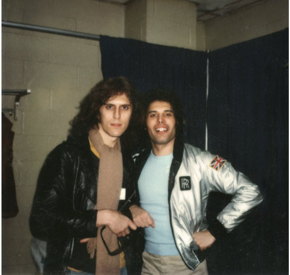 """""""I like the relationship between myself and the subject. That's something that I&#39;ve always enjoyed.""""   Mick and #FreddieMercury - Date unknown   #fbf #queen @MercuryMOTG @QueenWillRock<br>http://pic.twitter.com/ugUIpQCq1R"""