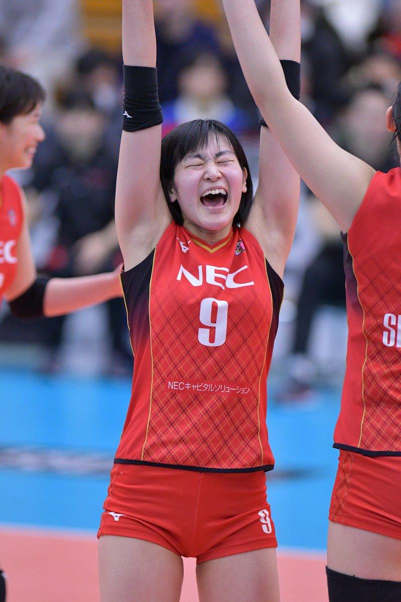 2019/03/16 深谷 #V1リーグ  #NECレッドロケッツ No.9 アウトサイドヒッターー #廣瀬七海 選手 Nanami Hirose