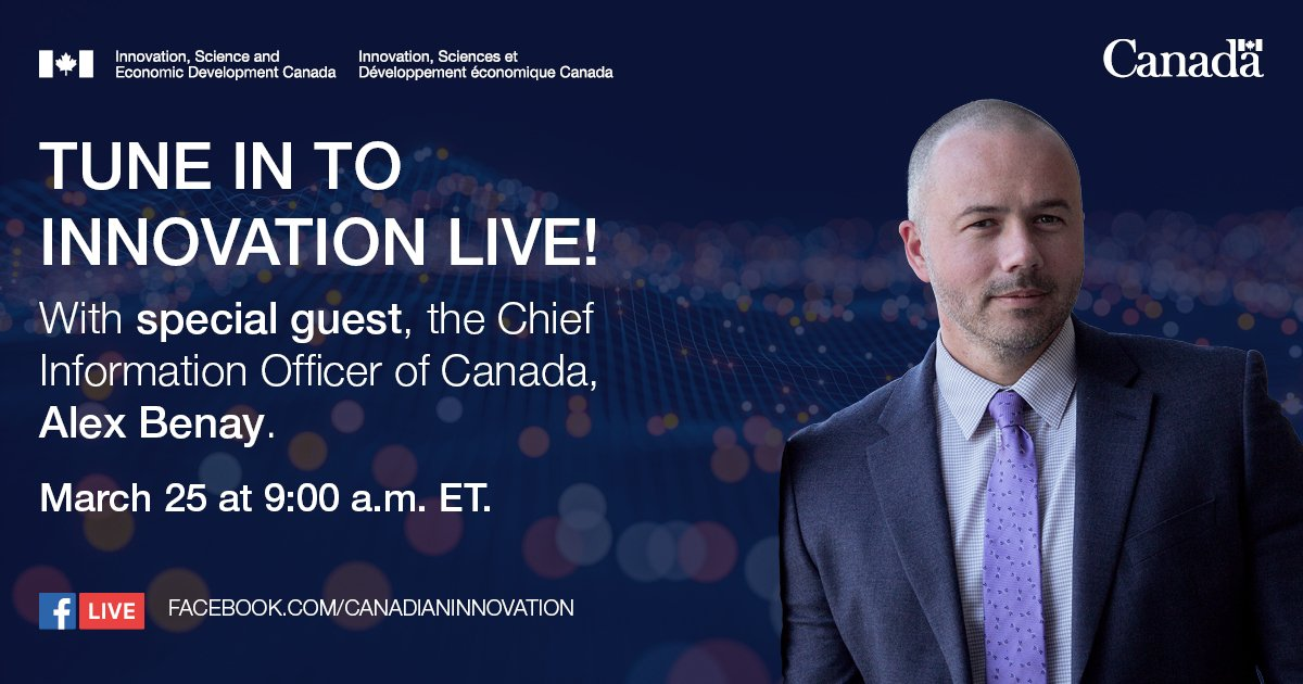 Join us in exploring the world of #AI🤖, #bigdata and #IP with @AlexBenay, the Chief Information Officer of 🇨🇦! 👇