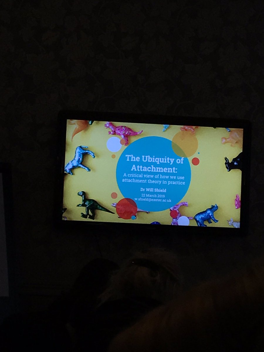Seminar 3 of the day! The ubiquity of attachment, incredibly thought provoking! #SDEP #EPwellbeing2019