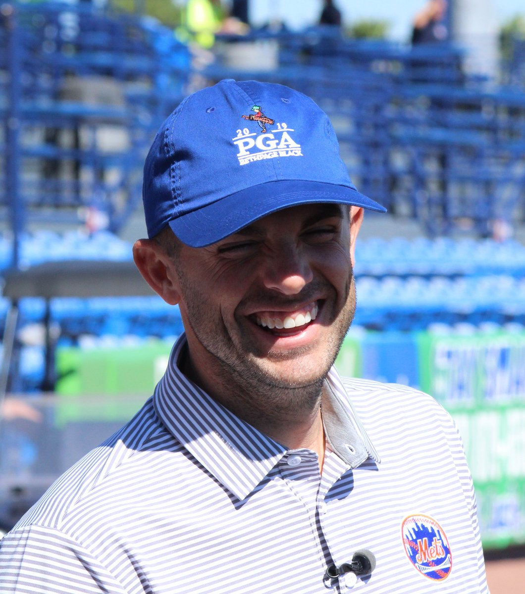 David Wright has signed on to be an ambassador for the 2019 PGA Championship at Bethpage Black. He received a passing of the torch today from the 2018 ambassador, Ozzie Smith. &quot;What a downgrade from last year,&quot; Wright quipped. <br>http://pic.twitter.com/2TGJYCfRGu