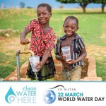 Image for the Tweet beginning: Today is #WorldWaterDay and I'm