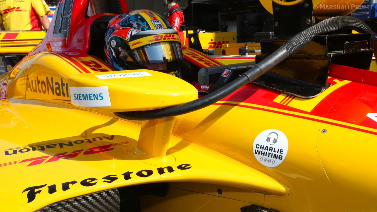 Respect to @IndyCar for honoring the late @F1 race director Charlie Whiting on all cars this weekend at @COTA, shown here on @RyanHunterReay&#39;s No. 28 @FollowAndretti @HondaRacing_HPD entry.<br>http://pic.twitter.com/59ab6HgVgL