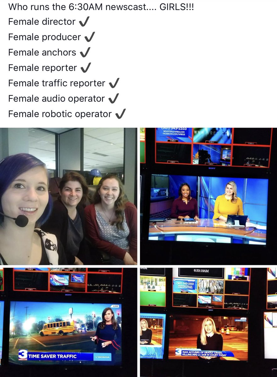 Women ruled Daybreak this morning.   Remember when men wouldn't even let us do these jobs?   (: @3onyourside director Melissa Joseph)<br>http://pic.twitter.com/NTWeDtbxdp