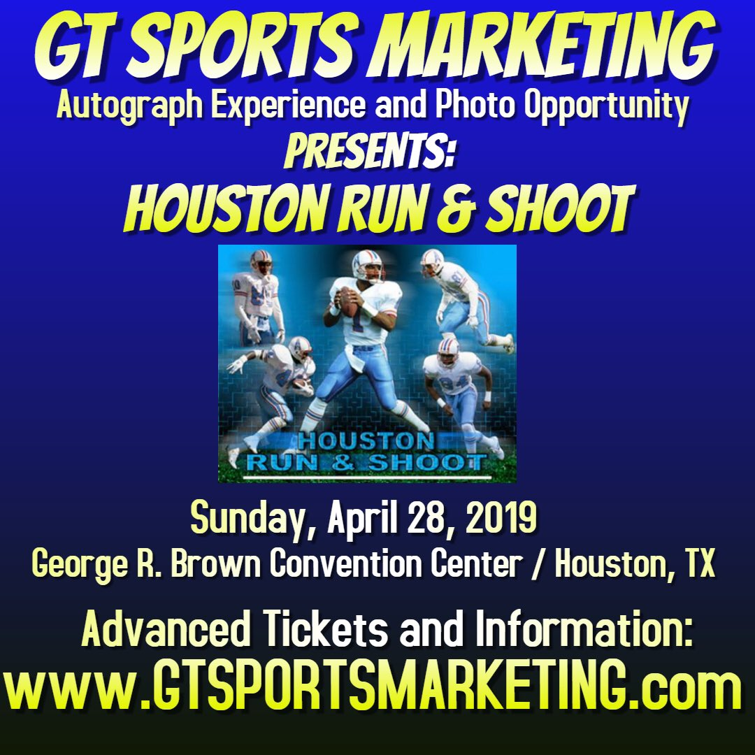H-town! 🔥 Come see me & the crew, @81TimBrown, @EddieGeorge2727, @JoseAltuve27, @ABREG1, @drewbrees & others at @GtSportsMkt show 4/26-4/28 at GRB Convention Centerz Tickets/Info: https://t.co/RizLNAdN5j https://t.co/2KaIYusTQ8