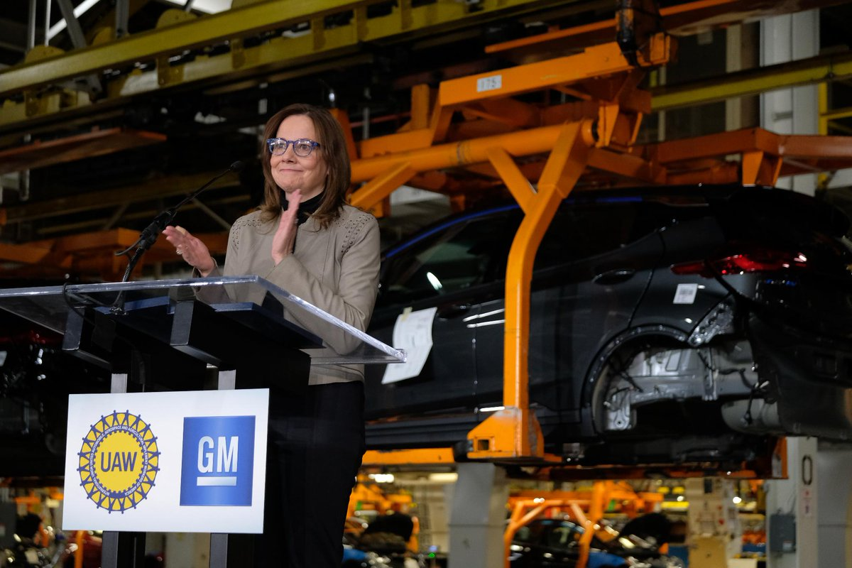 Today, we announced a $300M investment and 400 new jobs for the production of a new @ChevyElectric at our Orion Assembly Plant. https://s.gm.com/k4jxd ...