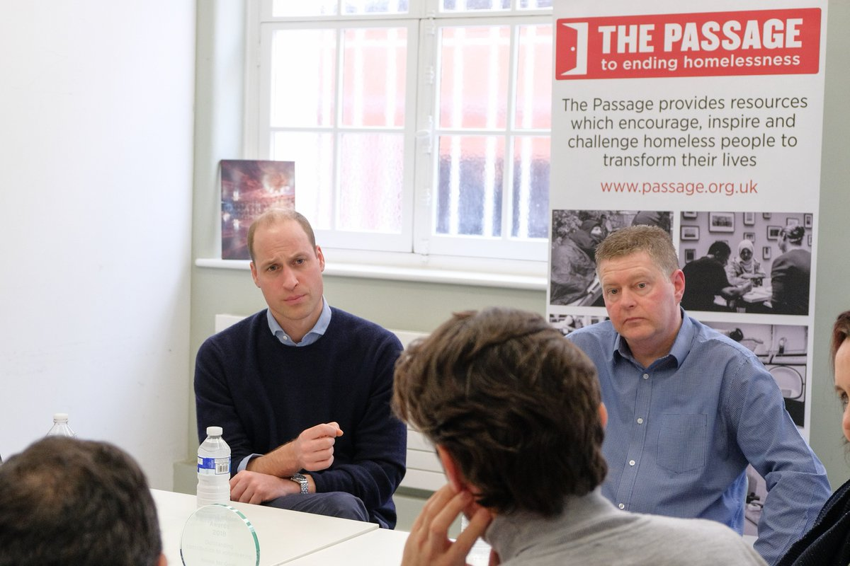 Last month The Duke of Cambridge became Patron of @PassageCharity — where he recently met clients supported by their 'Home for Good' programme, the only project of its kind in London which helps stop the cycle of homelessness.  Visit  http:// passage.org.uk/home/  &nbsp;   to find out more.<br>http://pic.twitter.com/g6TUgjAGZx