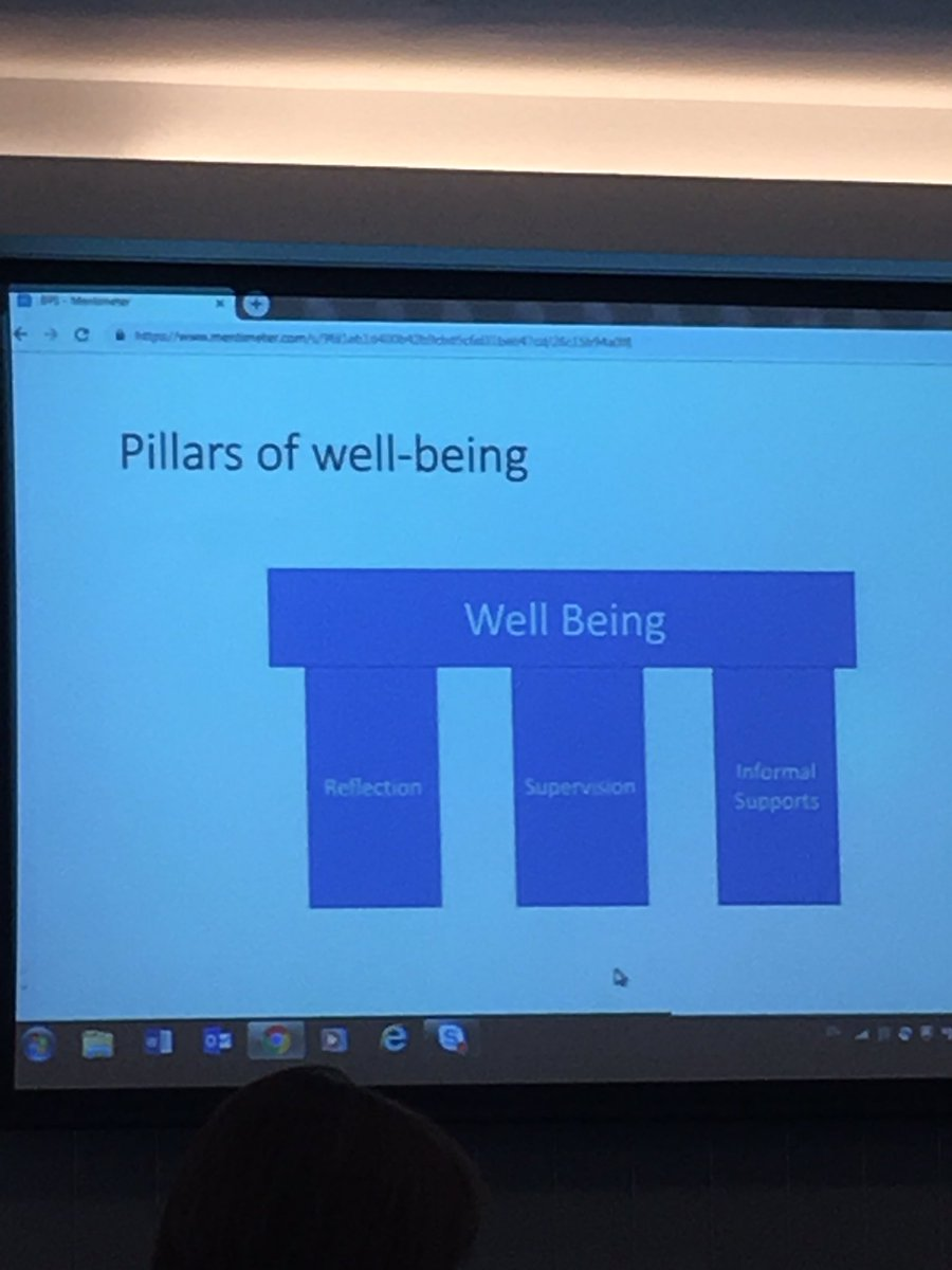 Reflection supervision & informal supports the pillars of wellbeing Dr Richard Ingram #EPwellbeing2019