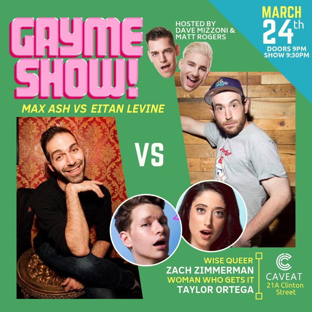 SUNDAY we THRIVE! Gayme Show is all new @caveatnyc!