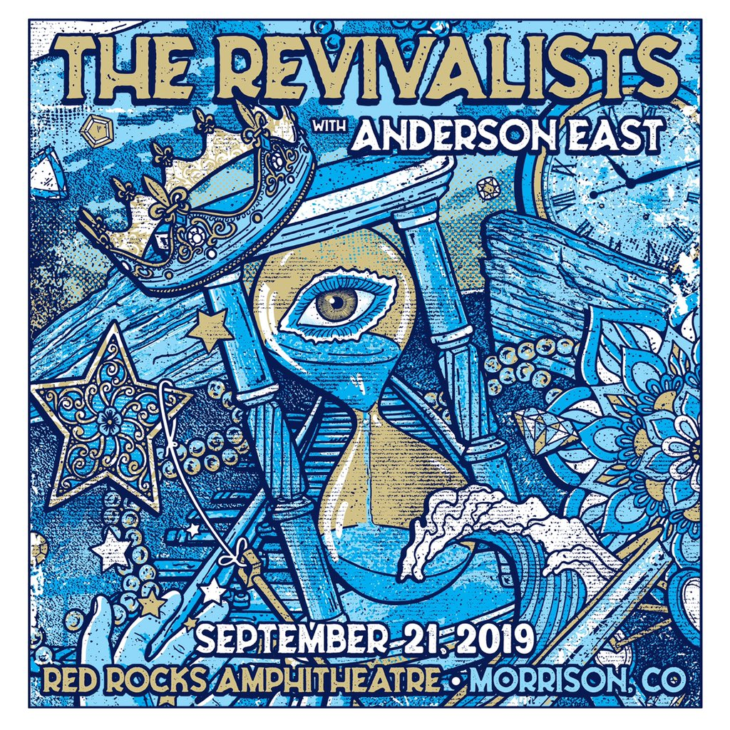 It's that time ⏳  Tickets for our @RedRocksCO show on September 21st with @Andersoneast are on-sale now: https://goo.gl/W98PbC  🎨: @GIGART #therevivalists #redrocks