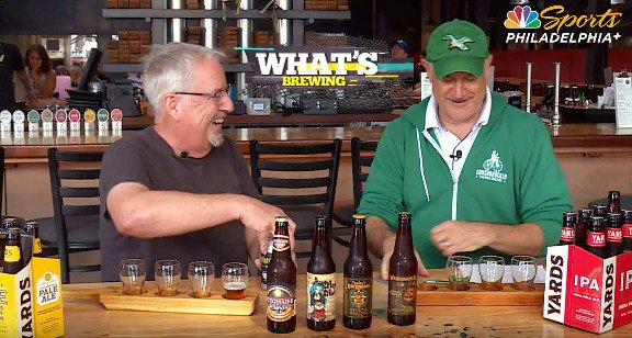 This week, @whatsbrewingpa with @RealGlenMacnow & Joe Sixpack talks about classic British-style ales with Andrew Horne of @conshybrewing. Tune in SATURDAY at 11:30 p.m. on @NBCSPhilly right after the 76ers game.