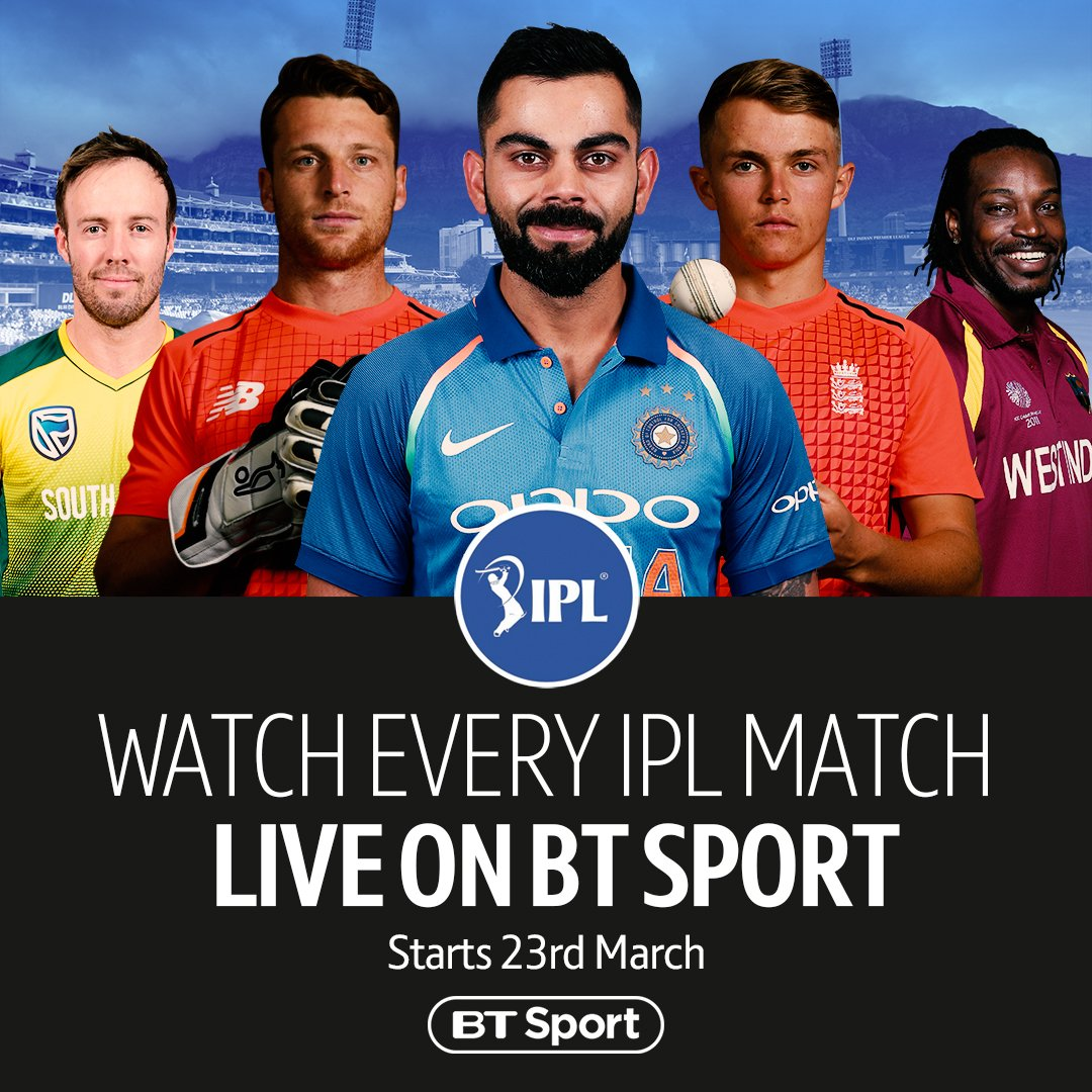 BT Sport is the home of the @IPL 🙌  The biggest names in world cricket will be involved in India 👊  Watch every game of the T20 tournament, starting March 23rd...