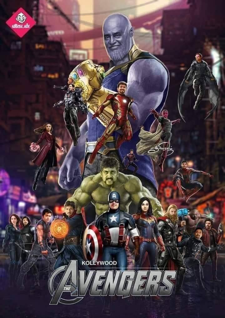 #AvengersEndgame #KollywoodAvengersEndgame #Vijay #Ajith #surya #vikram #simbu #dhanush #jiiva #ArunVijay #Arya @dhanushkraja