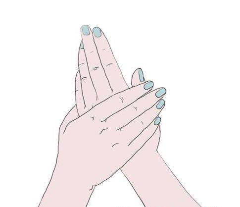 الفرك السريع لليدين : قد يظهر هذا الفرك السريع أن اليدين باردتين، مما قد يعني أن المرء متحمس لشيء ما، أو ينتظر بفارغ الصبر.