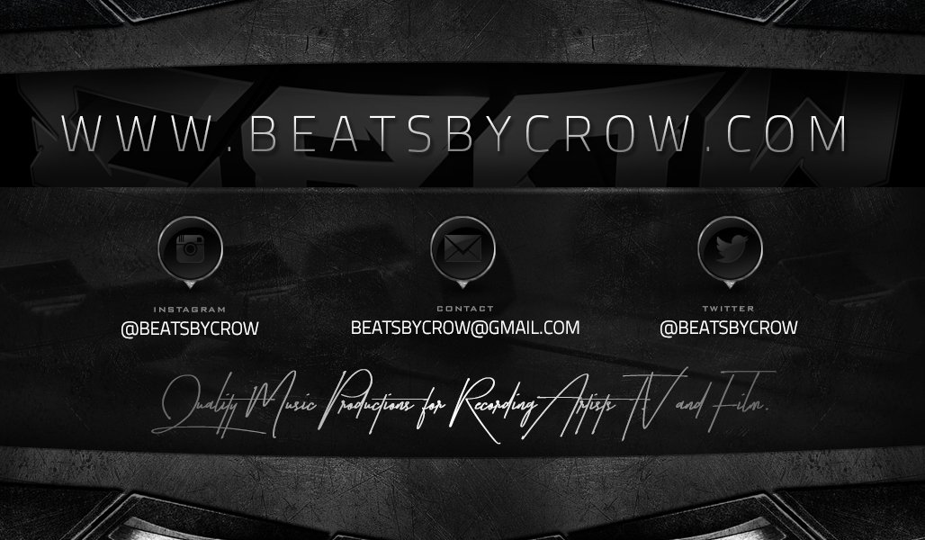 Quality production for your Album, E.P, Mixtape or Film AVAILABLE NOW! http://beatsbycrow.com    #beats #rappers #rap #SoundCloud #ProducerLife #beatplug #rapperswanted  #artist #lables #independentartis #music  #beatsforsale #beatstore #hiphop #production #quality #bang