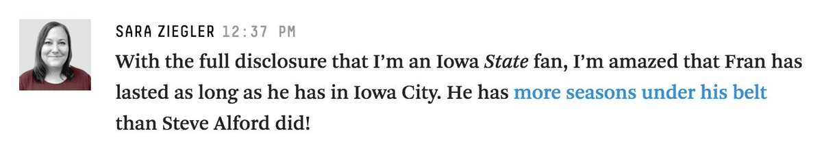 Come to the @FiveThirtyEight basketball live blog for my hot Iowa takes: https://fivethirtyeight.com/live-blog/march-madness-2019/…