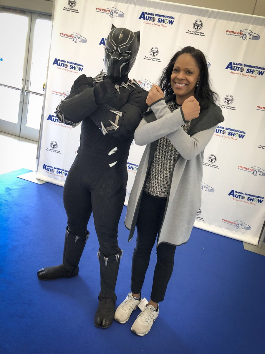 #BlackPanther is here! Come see us at the Atlanta International Auto Show. http://GoAutoShow.com  #AIAS19 #Marvel