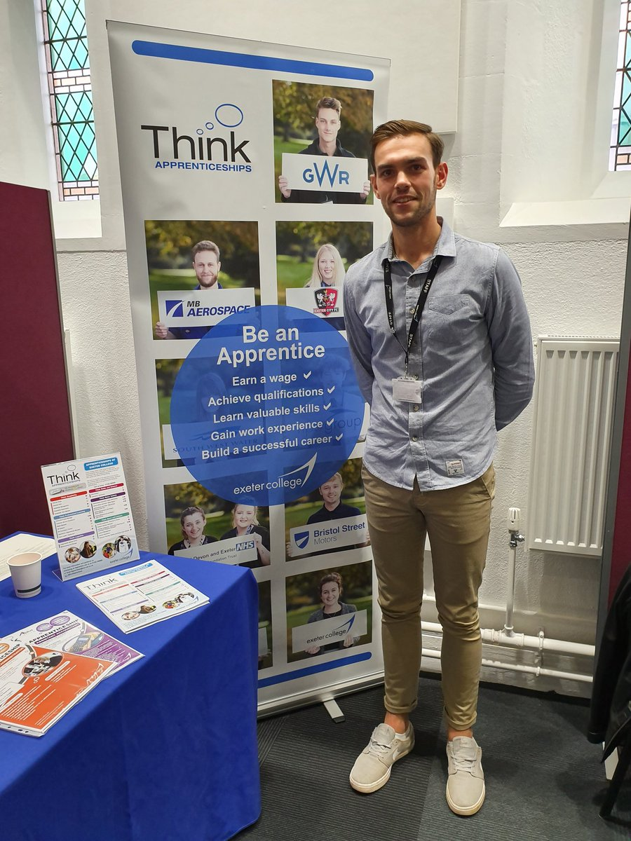 @ExeApprentices supporting the @DPT_NHS Careers Event at Wonford House, Exeter  We are here to discuss the delivery of our Senior Healthcare Suport Worker #apprenticeship and the vital links between the trust and college