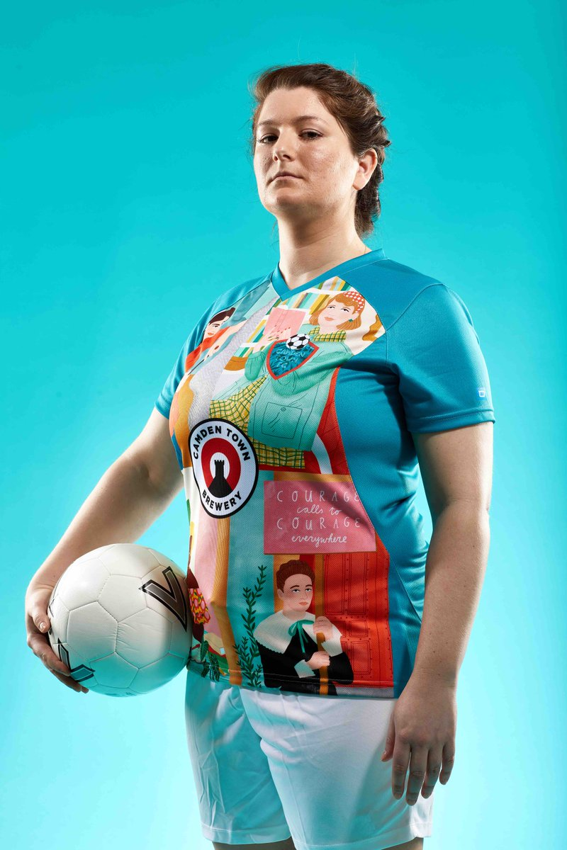 54026dd37 The sharpest kit in football: Camden Town FC unveil new strip with images  of famous women connected to the borough ...