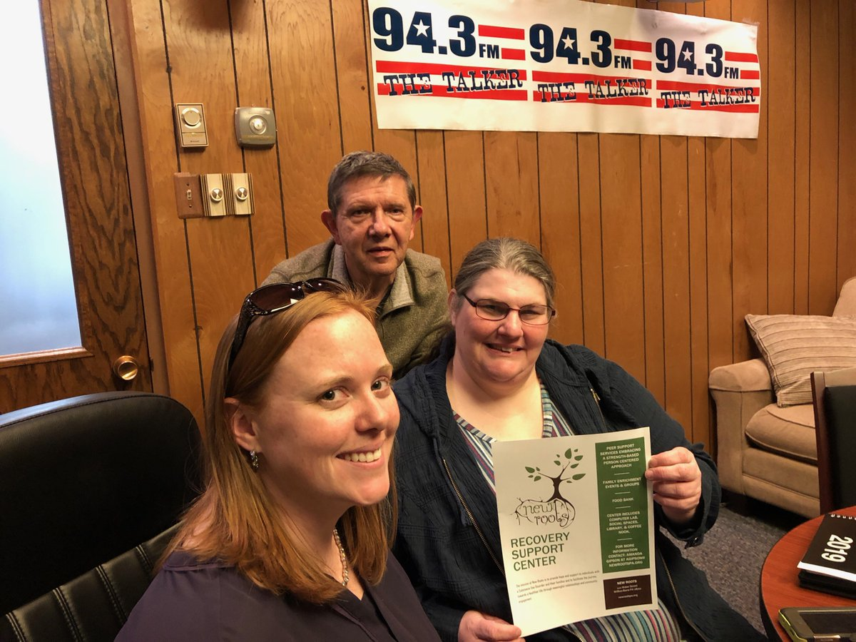 """Dr. Kuna recently welcomed Sara Helcoski and Kristin Topolsky from New Roots Recovery Support Center in Wilkes-Barre, PA, on his weekly show, """"On the Couch."""" Check out """"On the Couch"""" each week on 94.3 FM @ 12:30pm. #onthecouch #radio #psychology #therapy #counseling"""